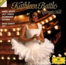 Kathleen Battle at Carnegie Hall (CD, May-1992, Deutsche Grammophon)