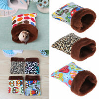 Warm Plush Hamster Nest Bed House Guinea Pig Sleeping Bag Rat Mouse House Cage