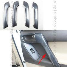 4X For Toyota Prado FJ150 10-16 Door Handle Holder Cover Trim Carbon Fiber Color