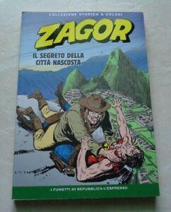 """ZAGOR """"IL SEGRETO DELLA CITTA' NASCOSTA"""" COLLEZIONE STORICA A COLORI N°212"""