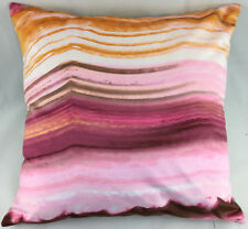Pinks, Oranges and Brown Stripes Velour Feel Evans Lichfield Cushion Cover