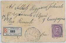 ITALIA REGNO storia postale - BUSTA Raccomandata per SOLDATO: Tariffa sbagliata?