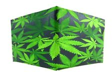 Duct Tape Wallet with Pot Leaf Design on the Front Handmade