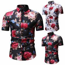 Fashion Men Luxury Shirts Casual Stylish Slim Fit Short Sleeve Dress T Shirt