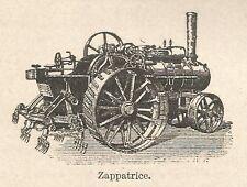 A7578 Zappatrice - Stampa Antica del 1931 - Xilografia
