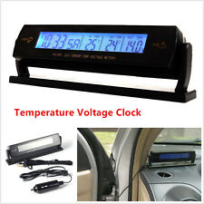 Car 4in1function Temperature Voltage Clock Digital LCD Thermometer Meter Monitor