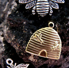 Vintage Style Bumble Honey Bee Pendants Charms Silver Insect Necklace Bead Craft