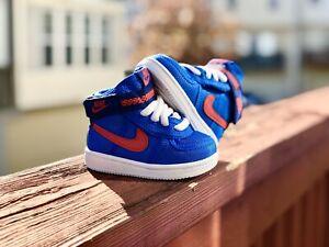 NWOB Nike Vandal High Supreme TD Sz 2C Blue Red Unisex Boys AH5254 403