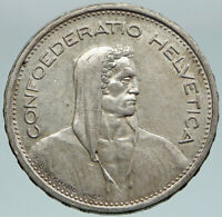 1949 Switzerland Founding HERO WILLIAM TELL 5 Francs Silver Swiss Coin i86760