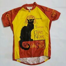 Retro Image Large Cycling Jersey Tournee du Chat Noir Cycling Jersey