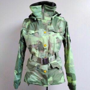 Holden Women's FRIEDA Jacket Camo With Detachable Belt Size UK XS - Waterproof