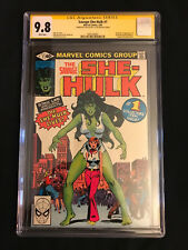 The Savage She-Hulk #1 (Feb 1980, Marvel) CGC 9.8 SS Stan Lee White Pages