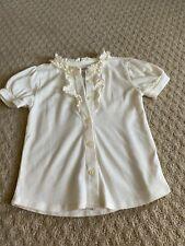 Girl Gymboree short sleeve white button up shirt - size 4