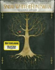 SNOW WHITE & THE HUNTSMAN New Blu-ray + DVD Steelbook Expired Digital Copy Code