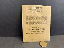 Vintage Package Little Dutch Tobacco Seeds, H.W. Buckbee, Rockford Farms IL