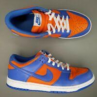 Nike SB Dunk Low Skate Shoes Mens Size 9.5 Orange Blaze Varsity Blue White