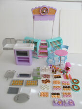 Mattel Barbie Donut Shop Lot Cash Register Milk Soda Juice Coffe Maker Furniture