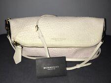 Authentic BURBERRY Prorsum Check Petal Multi Color Leather Clutch Bag