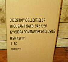 "SIDESHOW GI JOE EXCLUSIVE COBRA COMMANDER NEW 12"" FIGURE SEALED IN SHIPPER"