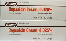 Rugby Capsaicin Cream 0.025% Pain Relief 60g /each ( 2 pack ) EXP: 01/2023