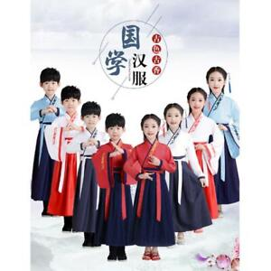 Ancient Kids Girl Boy Hanfu Tng Chinese Costume Dynasty Princess Cosplay Dress