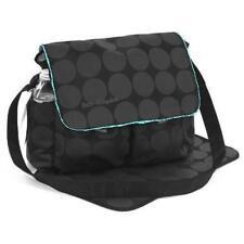 Large Polka Dots Baby Nappy Diaper Changing Bags Mat Set BLACK/GREY 038 New