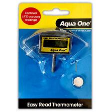 Aqua One Easy Read LCD In-Tank Thermometer Temperature Check Aquarium Fish Tank