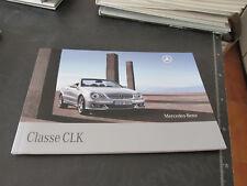 MERCEDES BENZ CLASSE CLK prospetto brochure 67 pagine ITALIANO