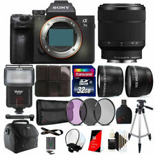 Sony Alpha a7 III Full Frame Mirrorless 24.3MP Digital Camera with Lens Bundle