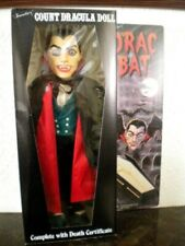 "Vintage Dracula Doll - Rare Collector Figure - Halloween Horror Prop 18"" Look"