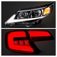 For Toyota Camry 2012-2014 LED DRL Headlights & Tail Lights Smoked Black