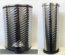 CHROME 3 Litre PEDEL BIN &TOILET BRUSH HOLDER BATHROOM WASTE SPIN DESIGN