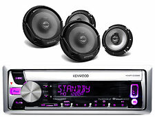 "4 Kenwood Sport Series 6.5"" 2Way Car Speakers, Kenwood iPod USB AUX CD Receiver"