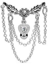 *NEW & SEALED - Vintage Reverse Chain Chandelier dangle belly navel bar ring