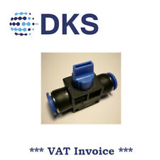 Manual Shut-Off Valve Pneumatic Air Push Fittings In 12 / Out 12mm Tube 000556