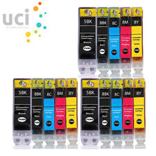 15 INK CARTRIDGES FOR CANON PIXMA iP5200 iP5200R iP5300 iP7600 PGI5 CLI8