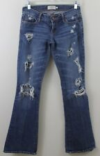 Abercrombie & Fitch Jeans Boot Cut Flare Leg Hippie Chic Torn Ripped 0 XS