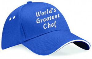 Embroidered World's Greatest...... Royal/White Ultimate Baseball Cap, Ideal Gift