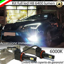 KIT FULL LED FENDINEBBIA H8  SEAT LEON 5F CANBUS 6400 LUMEN 60W 6000K BIANCO