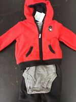 NEW Carter's Boy's 3-piece Microfleece Hooded Cardigan Set - VARIETY
