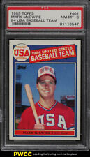1985 Topps Mark McGwire ROOKIE RC #401 PSA 8 NM-MT