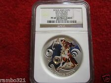 2013 Fiji Toy Terrier Dogs & Cats Puppy .999 Silver 1 oz Coin PF 69 NGC graded