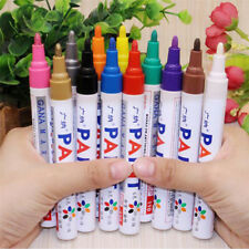 12PCS 12 colors Permanent Fabric Paint Pens T-Shirt Textile Shoes DIY Markers XA