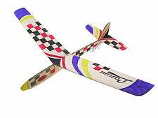 Lanyu Hand Launch Balsa Wood Glider Plane DIY Build&Paint Model Kit, US 8007