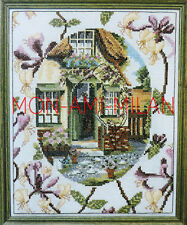 Cross stitch chart * Honeysuckle Cottage * nice to FRAME or as a Cushion Cover