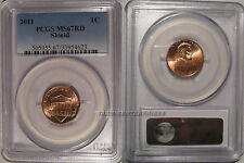 2011 P Lincoln SHIELD 1c Cent PCGS MS67RD Business Strike