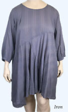 NWT LARGE Kleen Clothing Artsy BOHO A-Line, Bias Cut COTTON Tunic Dress L IRON