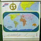 """New 54"""" Rand McNally School Roll pull Down Map Exploration to 1865 11 Maps"""