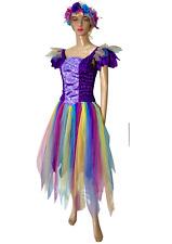 Women's Adult Fairy Dress Costume Purple Fantasy Plus Free Garland