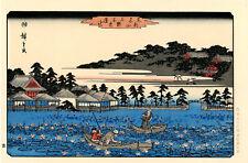 """Véritable Estampe Japonaise De Hiroshige """"L'Étang De Lotus De Shinobazu À Ueno"""""""